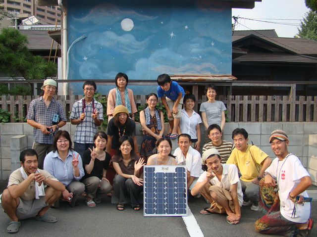 発電ミーティング@モモの家 ソーラーパネル組立てワークショップ
