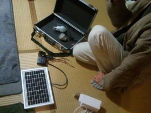モバイル太陽光発電充電セット